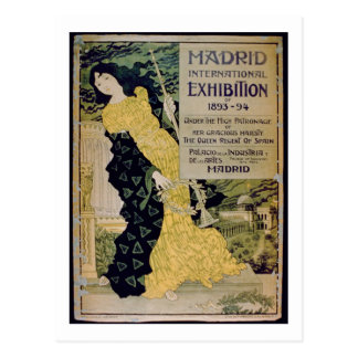 Advertisement for the 'Madrid International Exhibi Postcard