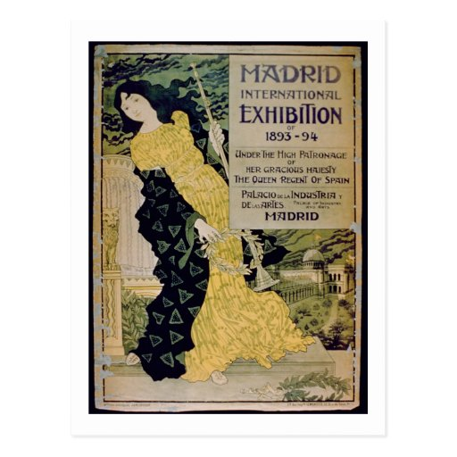 Advertisement for the 'Madrid International Exhibi Post Card