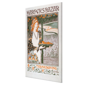 Advertisement for the Thanksgiving edition of 'Har Stretched Canvas Print
