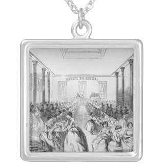 Advertisement for Thomson's Skirt Manufacture Silver Plated Necklace