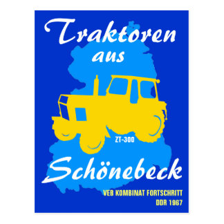 Advertisement GDR collective combine progress Postcard