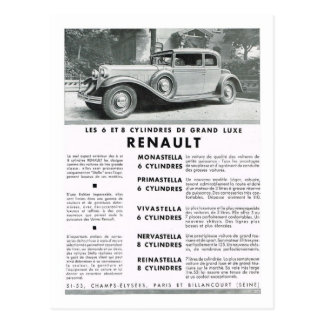 Advertisement, Renault Postcard