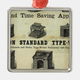 Advertisement with Guide Map Christmas Ornament