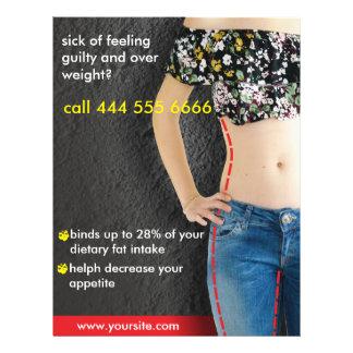 advertisements for diet 21.5 cm x 28 cm flyer