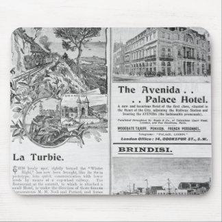 Advertisements for La Turbie Restaurant Mousepad