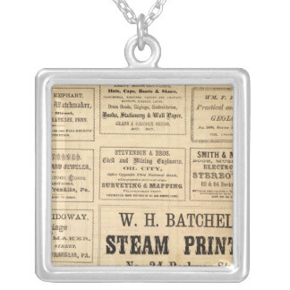 Advertisements for oil silver plated necklace