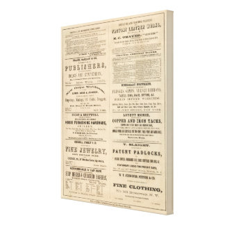 Advertisements for twelve companies, canvas print