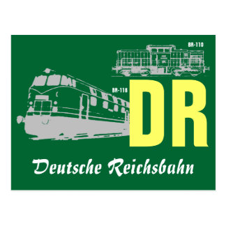 Advertising Design GDR National Railroad Postcard