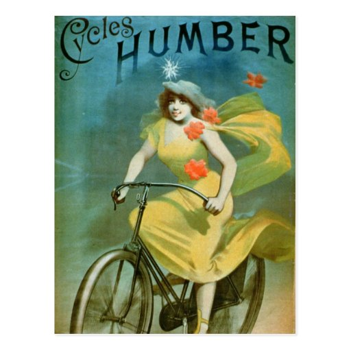 Advertising for 'Humber Cycles' (colour litho) Post Card
