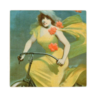 Advertising for 'Humber Cycles' (colour litho) Wood Coaster