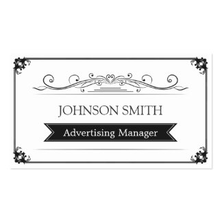 Advertising Manager - Classy Vintage Frame Pack Of Standard Business Cards