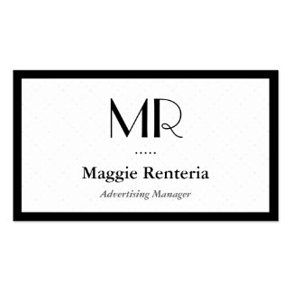 Advertising Manager - Clean Stylish Monogram Pack Of Standard Business Cards