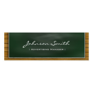 Advertising Manager - Cool Blackboard Personal Business Card Template