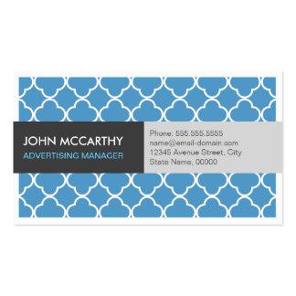 Advertising Manager - Modern Blue Quatrefoil Pack Of Standard Business Cards