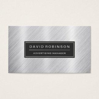 Advertising Manager - Modern Brushed Metal Look