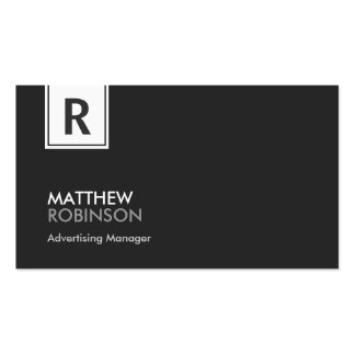 Advertising Manager - Modern Classy Monogram Pack Of Standard Business Cards
