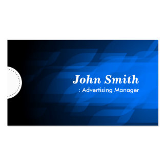 Advertising Manager - Modern Dark Blue Business Card Templates