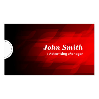 Advertising Manager - Modern Dark Red Business Card Templates