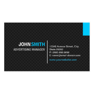 Advertising Manager - Modern Twill Grid Pack Of Standard Business Cards