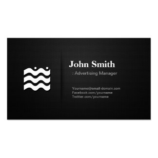 Advertising Manager - Premium Changeable Icon Business Card