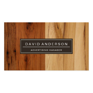 Advertising Manager - Wood Grain Look Pack Of Standard Business Cards
