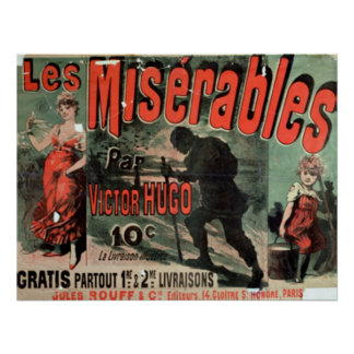 "Advertising the Publication of ""Les Miserables"" Poster"