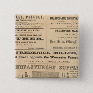 Advertisments by nine companies 15 cm square badge
