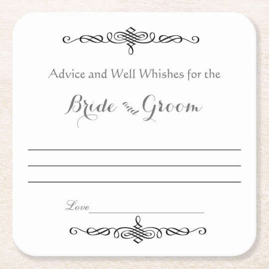 Advice and Well Wishes, Bride and Groom Square