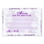 Advice Card Baby Shower Night Sparkle Purple