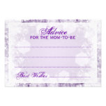 Advice Card Baby Shower Night Sparkle Purple Personalized Invites
