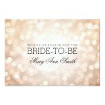 Advice Card Bridal Shower Copper Glitter Lights 9 Cm X 13 Cm Invitation Card