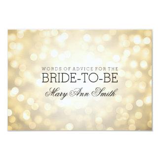 Advice Card Bridal Shower Gold Glitter Lights 9 Cm X 13 Cm Invitation Card