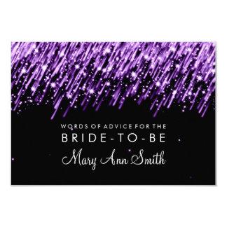 Advice Card Bridal Shower Purple Falling Stars 9 Cm X 13 Cm Invitation Card