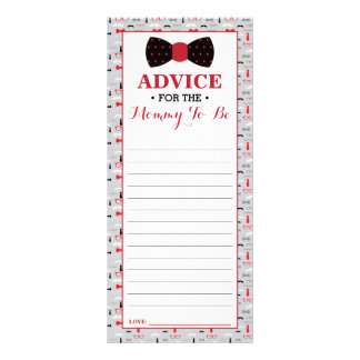 Advice Card for Mum-To-Be, Little Man Baby Shower Full Color Rack Card