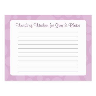 Advice Card/Words of Wisdom - Rubber Duck - Lilac Postcard