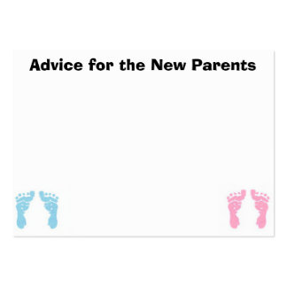 Advice Cards for the New Parents Pack Of Chubby Business Cards