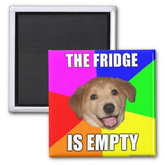 ADVICE DOG MEME: THE FRIDGE IS EMPTY MAGNET