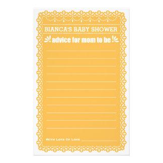 Advice for Mom To Be Orange Papel Picado Shower 14 Cm X 21.5 Cm Flyer