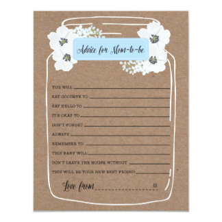 Advice for mommy-to-be Baby Shower Game Card