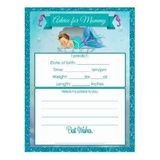 Advice for Mummy Baby Shower Cards