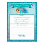 Advice for Mummy Baby Shower Cards Postcard