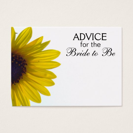 Advice for the Bride to Be Giant Sunflower