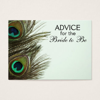 Advice for the Bride to Be Peacock Feather Cards