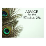 Advice for the Bride to Be Peacock Feather Cards Pack Of Chubby Business Cards