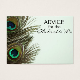 Advice for the Husband to Be Peacock Feather Cards