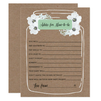 Advice for the Mommy-to-be Baby Shower Game Card