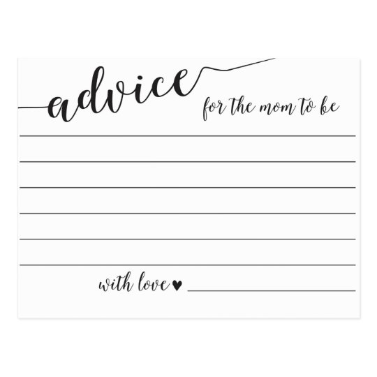 Advice for the Mum to Be Baby Shower Cards