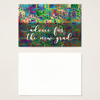 Advice for the New Grad, Colorful Confetti, 2 Business Card