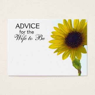 Advice for the Wife to Be Tall Sunflower Cards