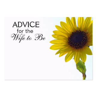 Advice for the Wife to Be Tall Sunflower Cards Pack Of Chubby Business Cards
